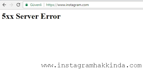 5xx Server Error Hatası
